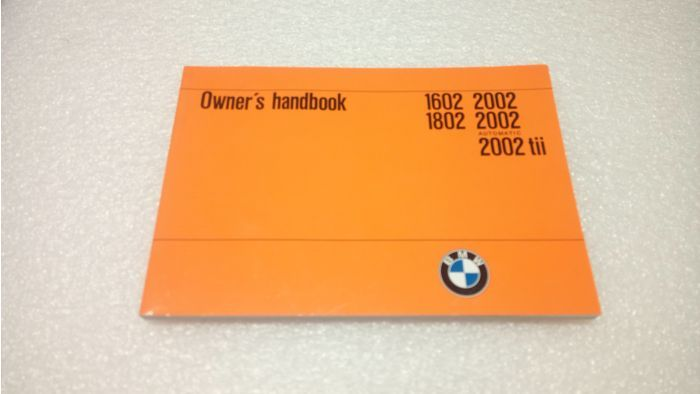 BMW 2002 Owners Manual Model '73