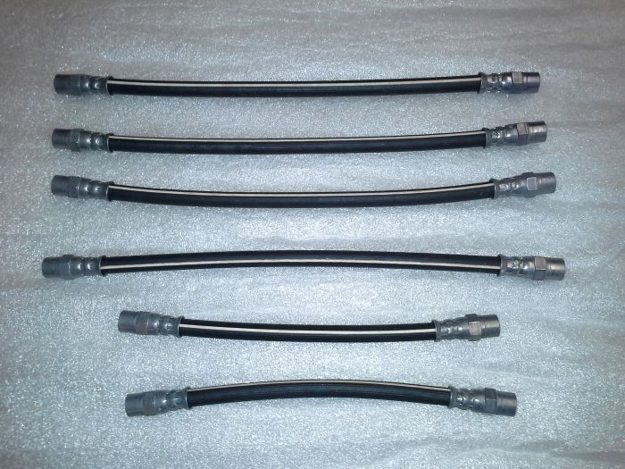 (02 models) Flexible Rubber Brake Hose Set of 6 (OE)