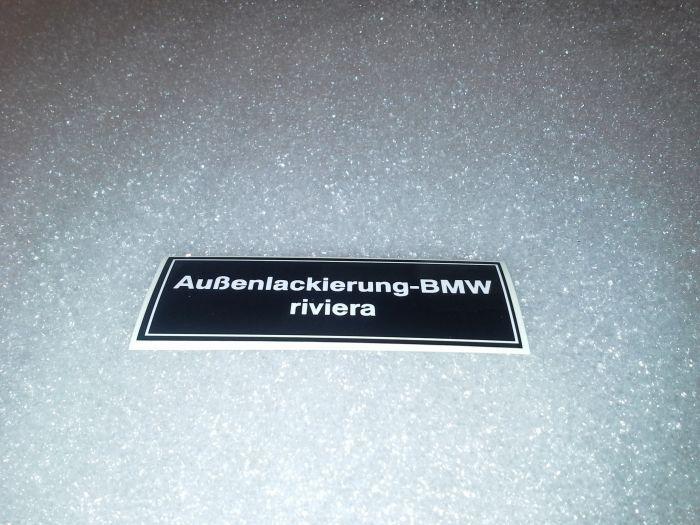 (E9 2.5CS-3.0CSL) Riviera Colour Sticker