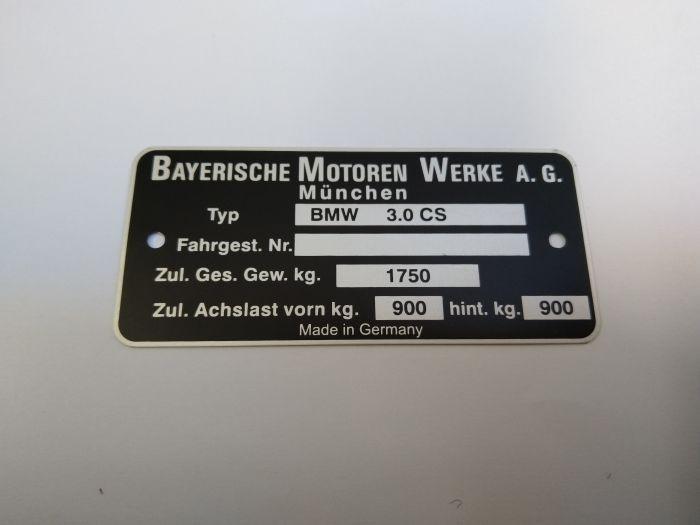 "(E9 2.5CS-3.0CSL) Chassis Plate ""3.0 CS""/""3.0 CSi"" (P)"