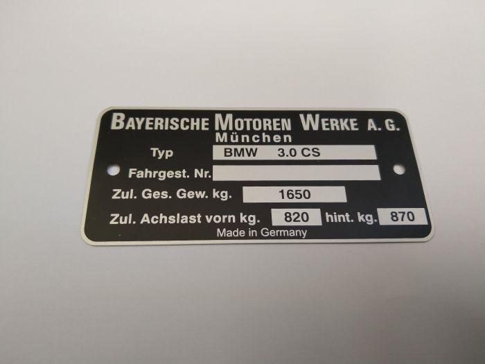 "(E9 2.5CS-3.0CSL) Chassis Plate ""3.0 CSL"" (P)"