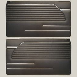 (02 models) Pair of Door Trim Pads Black 71 to 73 (P)