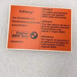 (02 models) Achtung! Sticker - Orange (satin)