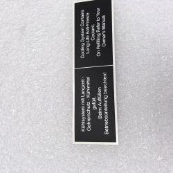 (02 models) Coolant Warning Sticker (satin)