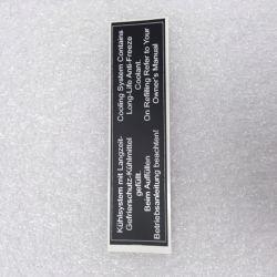 (02 models) Coolant Warning Sticker with border (satin)
