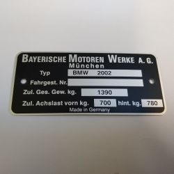 """(02 Models) Chassis Plate """"2002"""" (P)"""