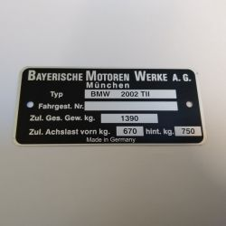 """(02 Models) Chassis Plate """"2002Tii"""" (P)"""