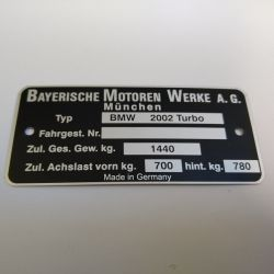 """(02 Models) Chassis Plate """"2002Turbo"""" (P)"""
