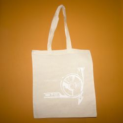 BMW 02 Handprinted Natural Cotton Tote Bag White