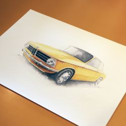 Ltd Edition Print - BMW 2002ti Colorado 1970 by Paul Howse