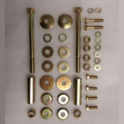 (02 models) Front Axle Nut Bolt and Washers Kit
