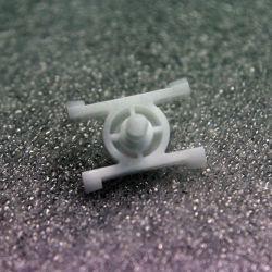 (E30) Plastic H clip for black side moulding